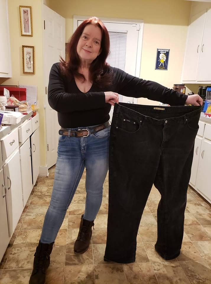 100 pounds lighter Karen Hoff